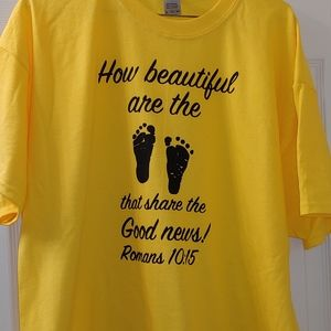 "XL Shirt with ""How Beautiful are the feet that sha"